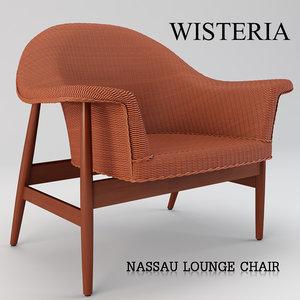 3D nassau lounge chair model