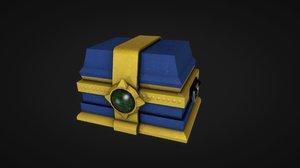 3D treasure chest ready ue4