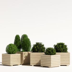 pots cube planter model