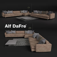 Elegant sofa in contemporary style, Alf DaFre