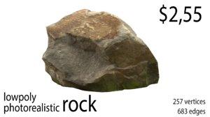 photorealistic rock 3D model