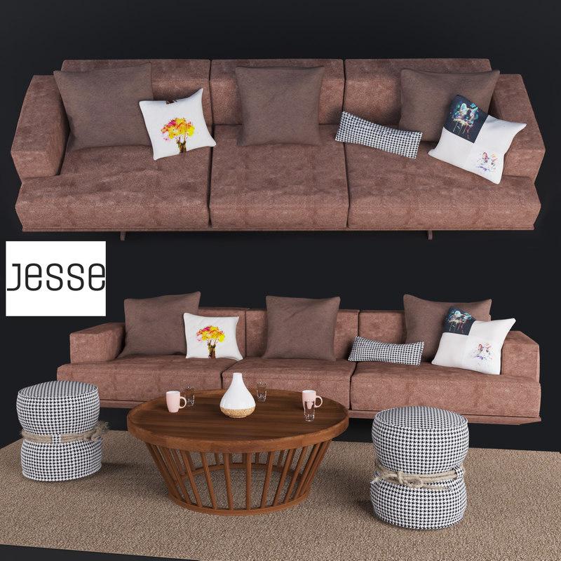 sofa jesse oliver 3D model