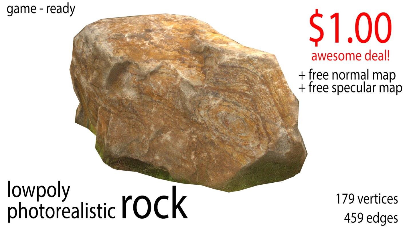 3D photorealistic rock model