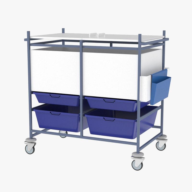 realistic medical cart 3D model