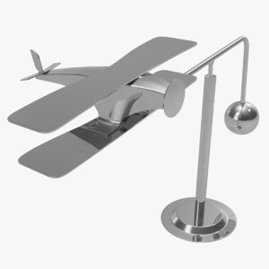 3D office toy plane