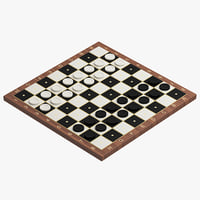 3D checkers modelled