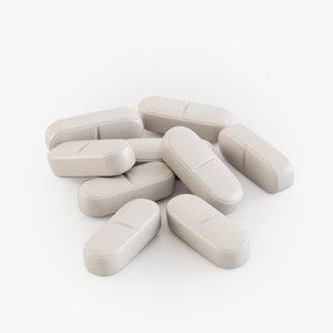 3D realistic pills model