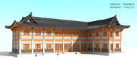 hanok-restaurant 3D