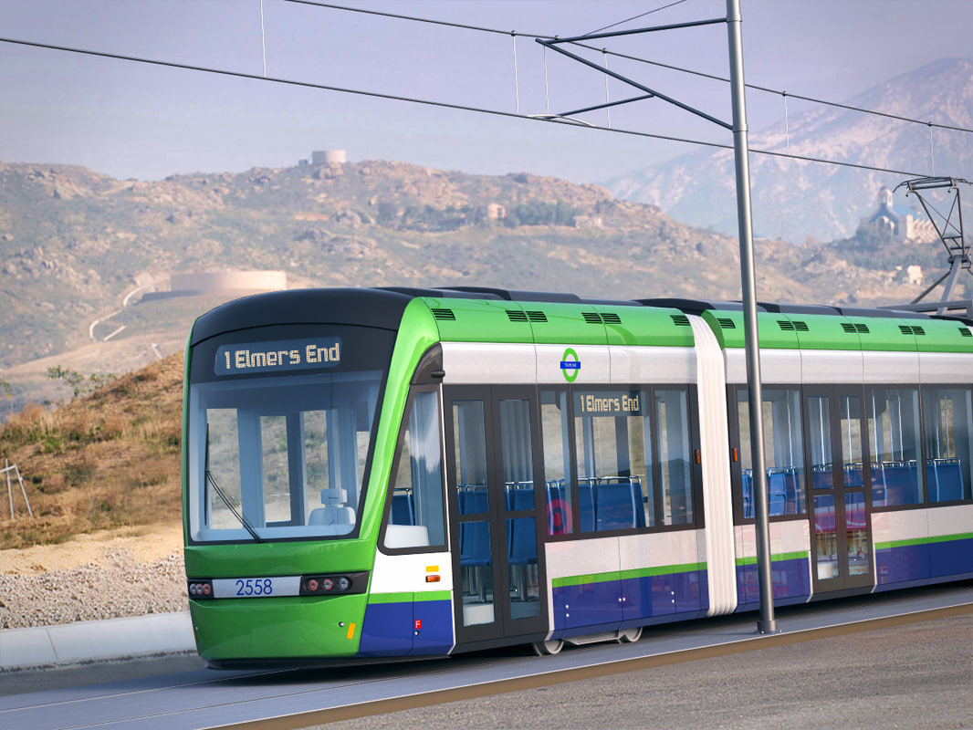 3D variotram tramlink east croydon model