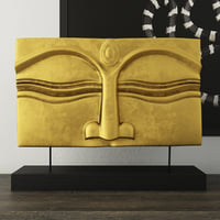 3D suar wood gold buddha