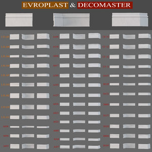 3D model baseboard evroplast decomaster