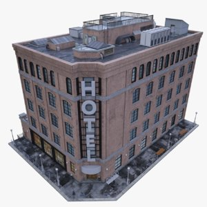 hotel real 3D model