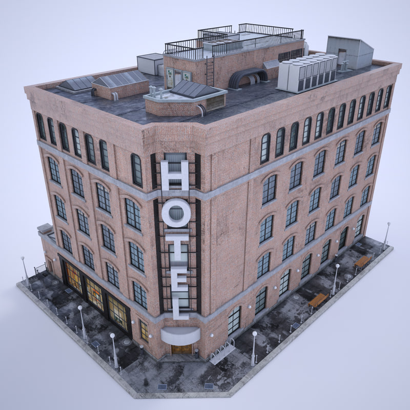 hotel real 3D model