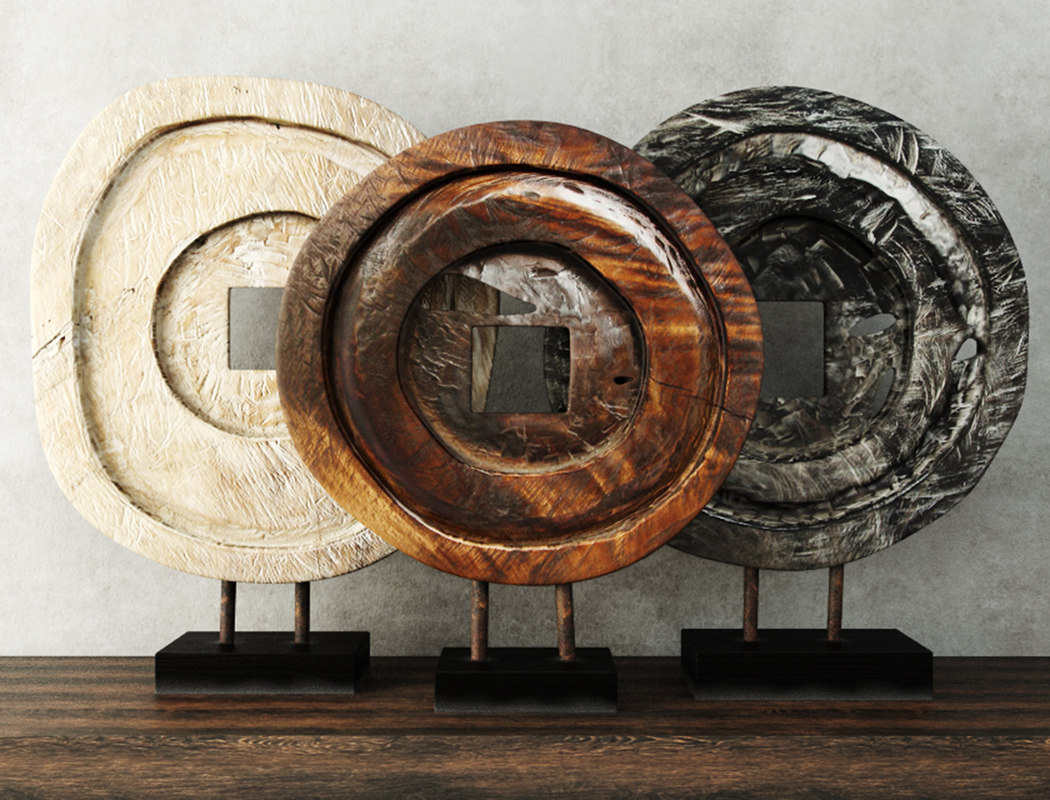 3D decoration suar wood model