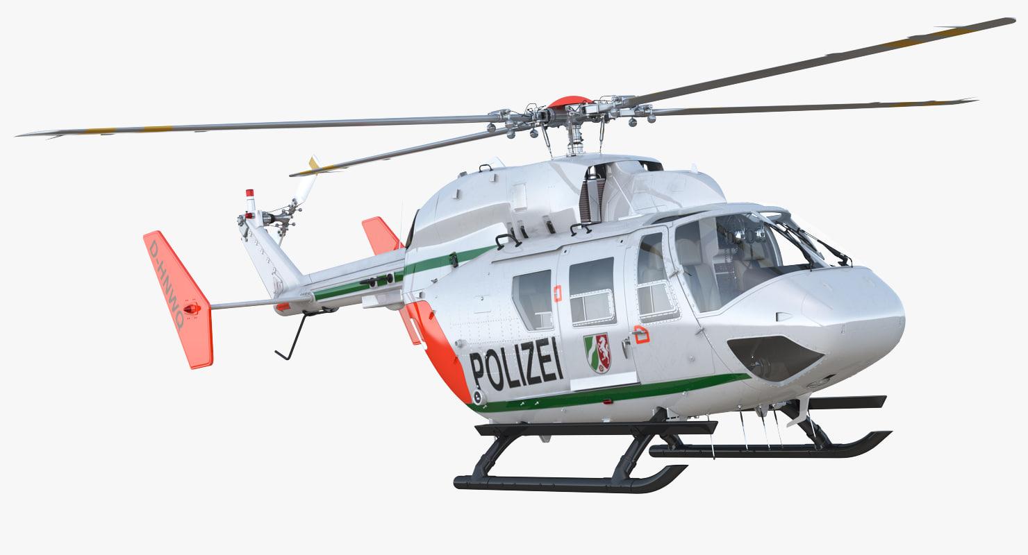 3D kawasaki bk 117 german model