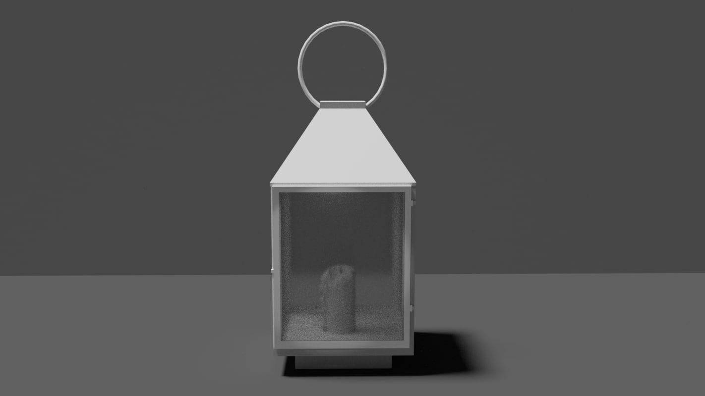 3D whait lantern