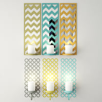 wall candleholder set 3D model
