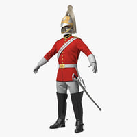 british cavalry royal life 3D model