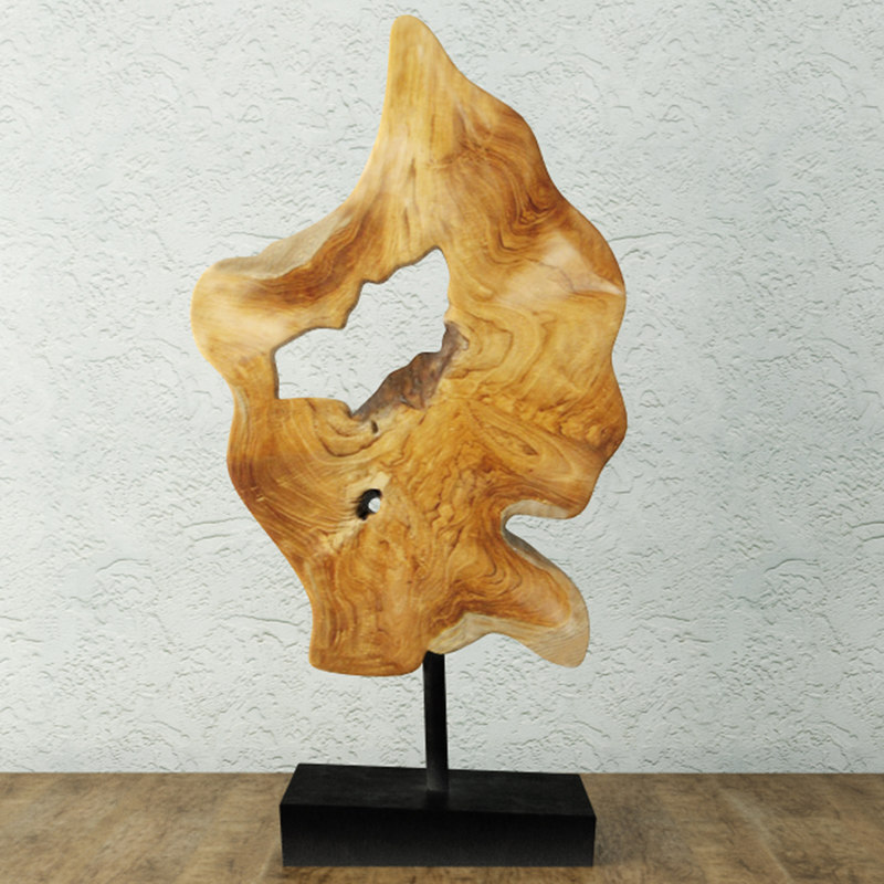 decoration teak wood 3D
