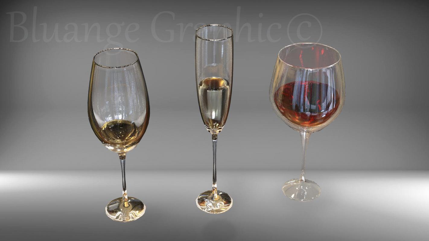glass goblet model