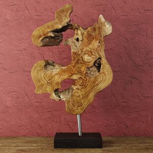 3D model decoration teak wood