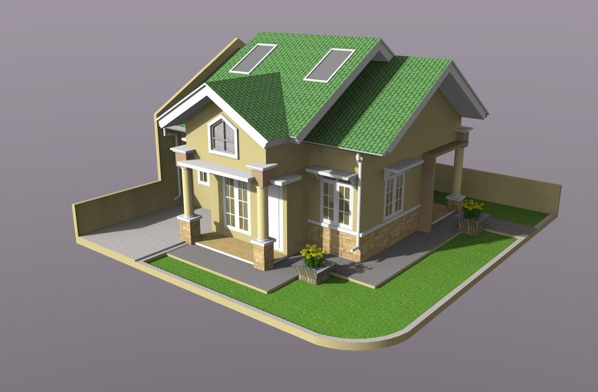 solar house 3D