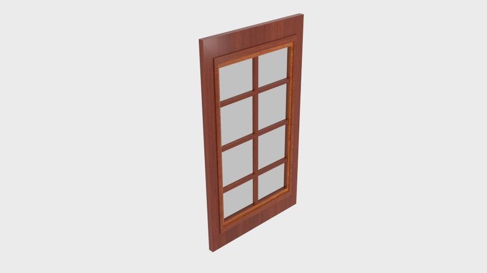wood window 3D model