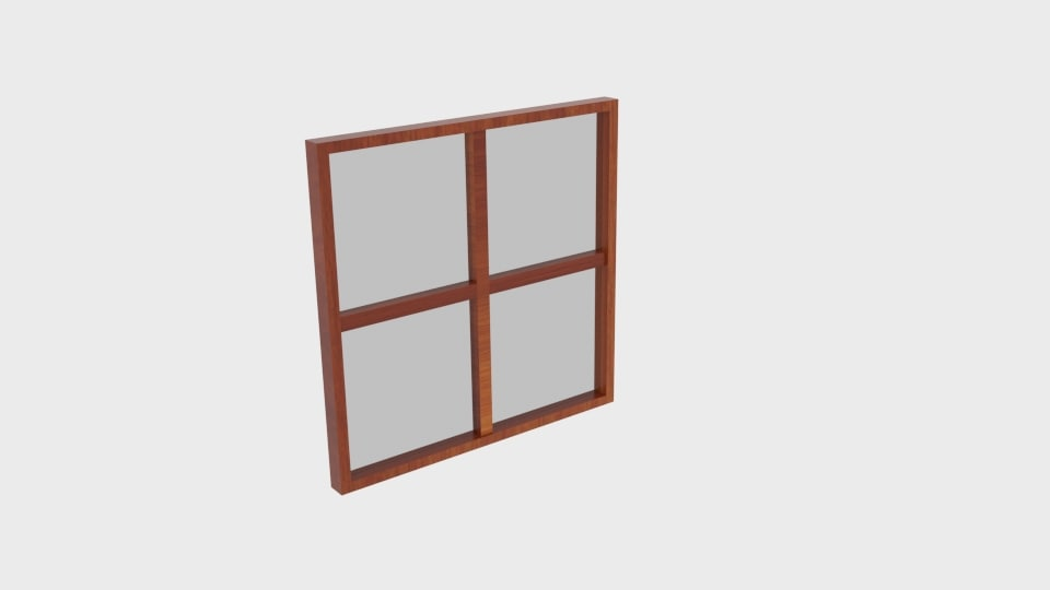wooden square window model