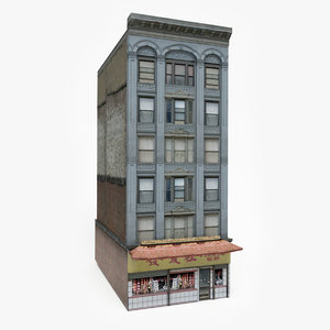 3D model ready chinatown building games