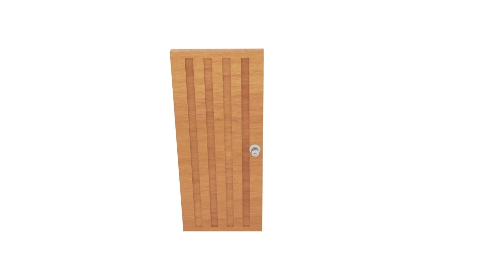 3D wood strip door