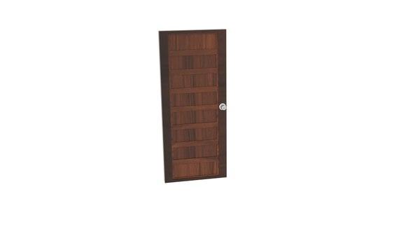 3D strip stack wood door model