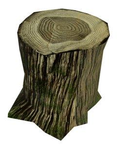 stump ready pbr 3D