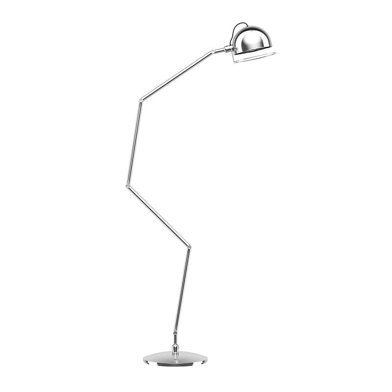 silver floor lamp 3D model