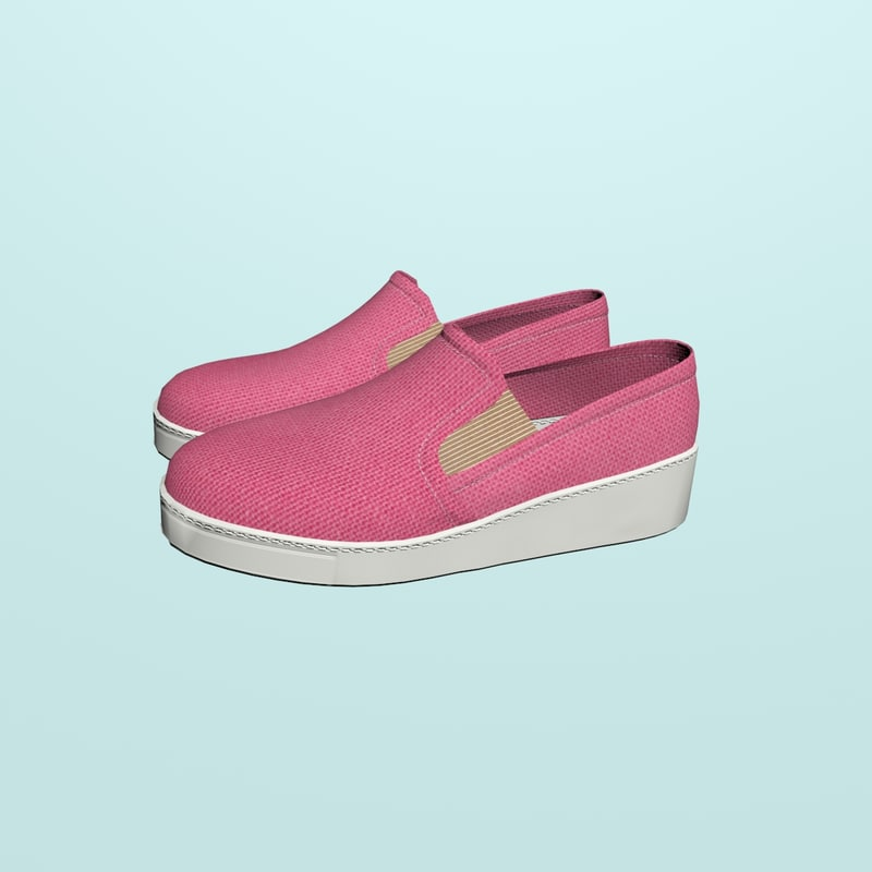 women loafers 3D model