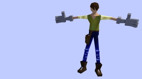 3D character farmer model