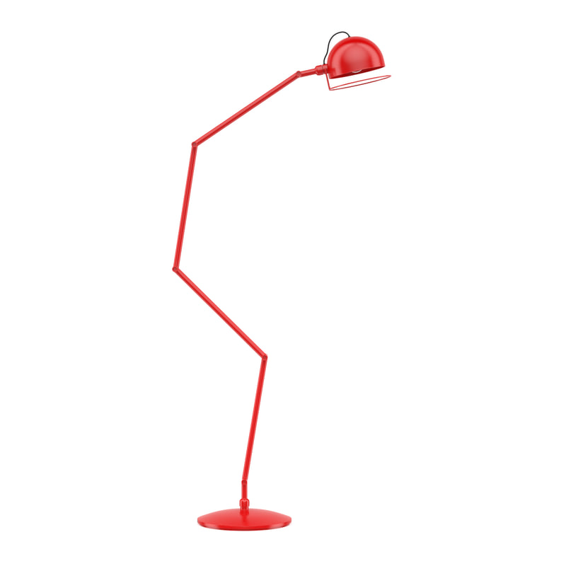 red floor lamp model