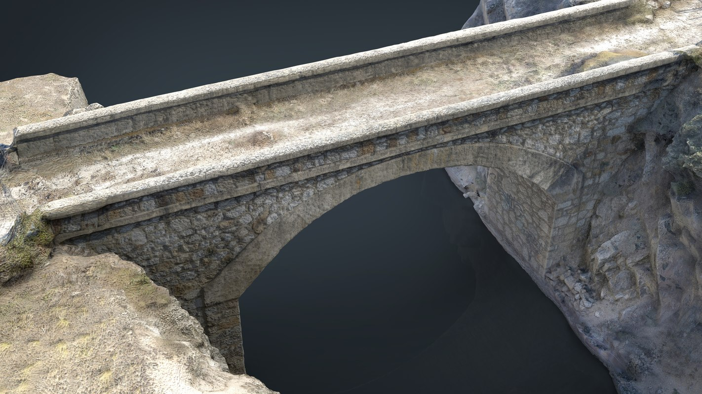 realistic bridge 3D model