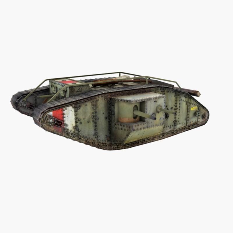 british tank 3D model