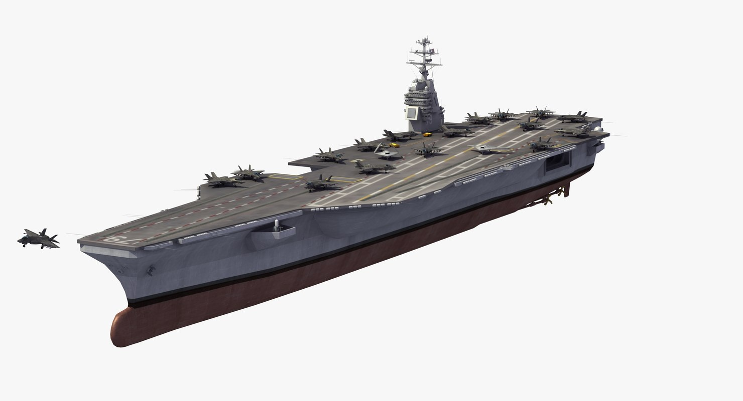3D cvn-79 uss john f model