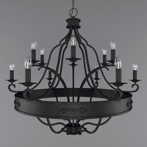 wrought iron chandelier model