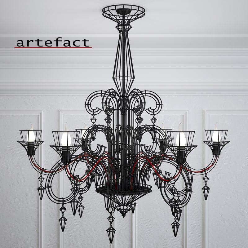 3D artefact chandelier