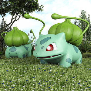 pokemon bulbasaur 3D