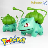pokemon bulbasaur 3D