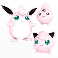 Pokemon Igglybuff - Jigglypuff - Wigglytuff