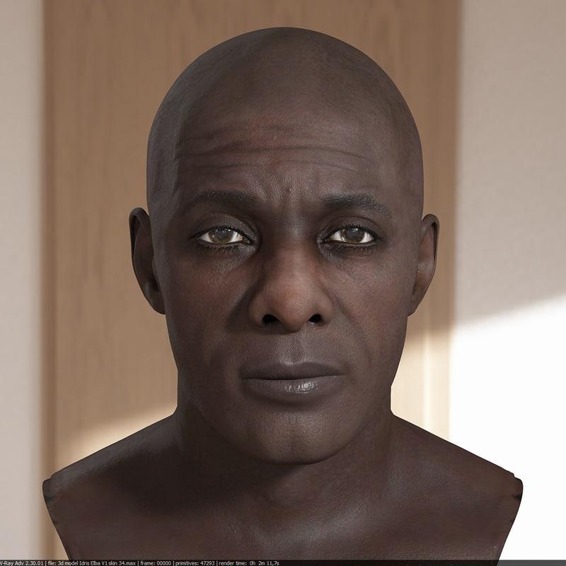 3D idris elba head v2