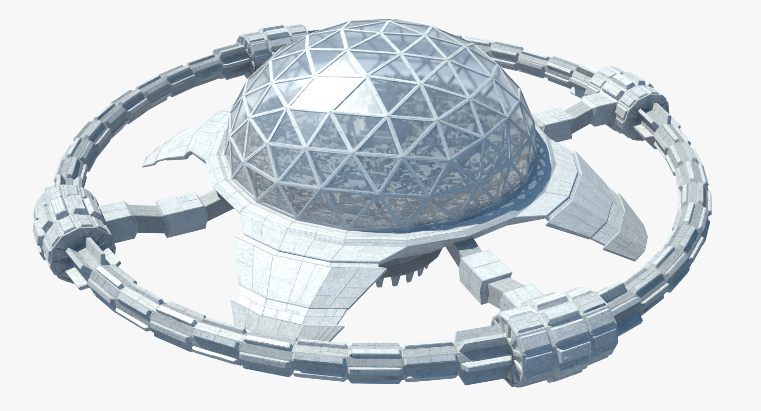 3D ocean flying city