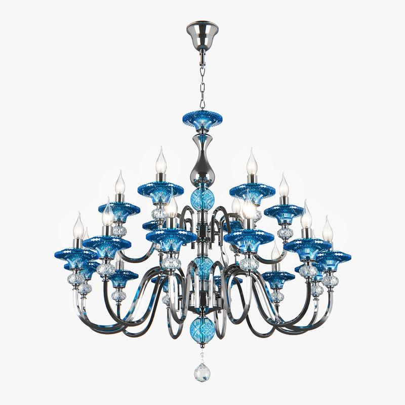 3D 699184 azzurro osgona chandelier