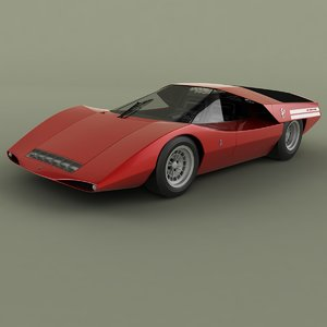 3D 1969 fiat abarth 2000