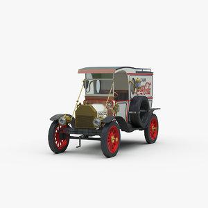 vintage delivery van 3D model