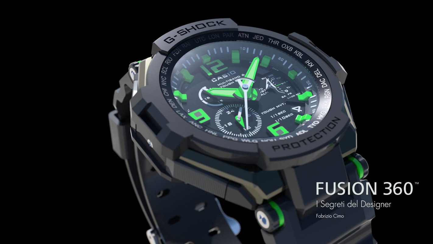 3D g-shock shock casio model